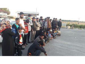 Uygulama Alanlarında 100 Kaçak Göçmen Yakalandı