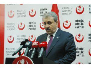"""Bbp Genel Başkanı Destici: """"Kuzey Suriye'de Teröristler Bulundukça Türkiye Güvende Olmayacak"""""""