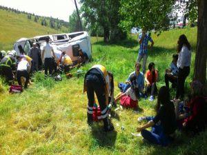 Kütahya'da trafik kazası: 10 yaralı
