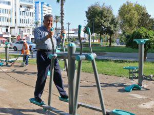 Yavuz Özcan Parkı'nda spor alanı oluşturuldu