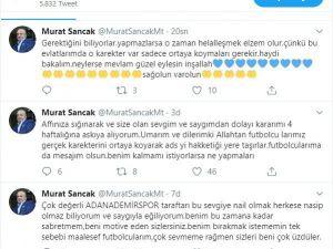 Murat Sancak Görevi Bırakma Kararını Askıya Aldı