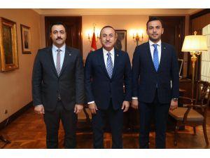 Bakan Çavuşoğlu, ALKÜ rektörü Kalan'ı kabul etti