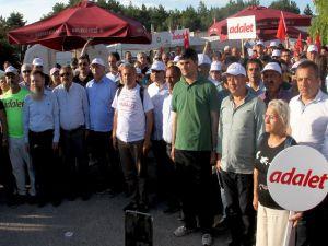 Chp'nin 'Adalet Yürüyüşü'nde 'Duran Adam' Eylemi