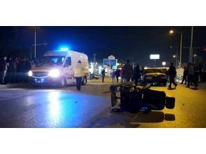 Engelli Çiçek Satıcısına Otomobil Çarptı