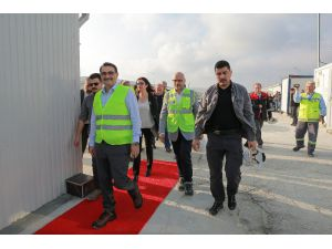 Enerji Bakanı Dönmez Türk Akım Alım Terminalini Ziyaret Etti