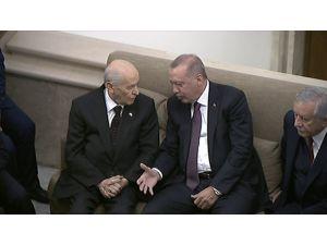 Cumhurbaşkanı Erdoğan, Mhp Lideri Bahçeli İle Görüştü