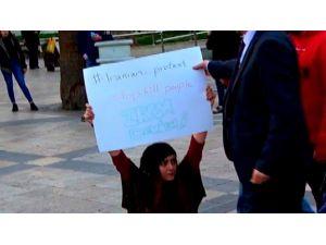 Denizli'de, İran Protestolarına Destek Eyleminde 2 Kişiye Gözaltı