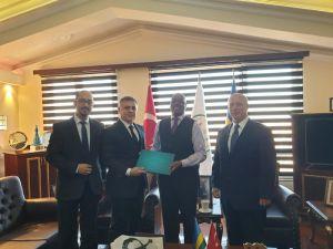 Mersin Giad Üyeleri Ruanda Büyükelçisini Ziyaret Etti