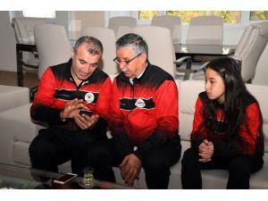 Milli Karateci Özdemir'den Başkan Topaloğlu'na Ziyaret