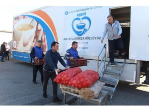 Antalya'dan deprem bölgesine arama kurtarma ekibi ve yardım tırı