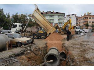 Alanya Sanayi Sitesi'nin yağmur suyu sorunu çözülüyor