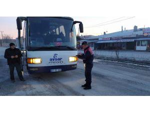 Bolvadin'de İşçi Servisleri Denetlendi