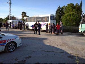 Mersin'de Servis Araçları Denetleniyor