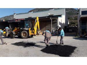 Alanya belediyesi 209 yılında 7 bin 883 tonluk yama yaptı