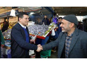 Başkan Tütüncü  semt pazarlarında vatandaşla buluştu