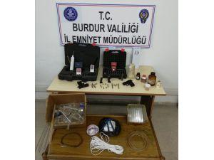 Burdur'da kaçak tarihi eser operasyonu