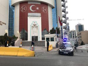 Mhp Genel Başkanı Devlet Bahçeli, Cumhurbaşkanı Recep Tayyip Erdoğan'la Görüşmek Üzere Parti Binasından Ayrıldı.