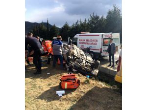 Burdur'da Trafik Kazası: 1 Ölü,5 Yaralı