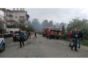 Antalya'da korkutan orman yangını büyümeden söndürüldü