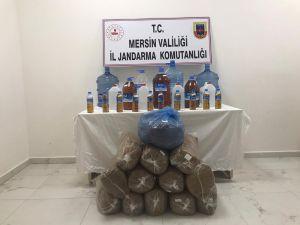 Jandarmadan Kaçak Alkol Ve Tütün Operasyonu