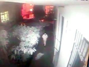 Başkent'te TV hırsızlığı güvenlik kamerasına yansıdı