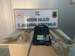 Mersin'de İzinsiz Kazı Yapan 3 Kişi Yakalandı