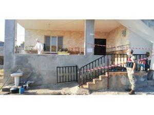 İslahiye'de Karantina Altına Alınan Evler Dezenfekte Edildi
