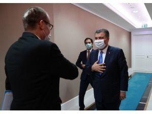 Sağlık Bakanı Fahrettin Koca'nın Dsö Avrupa Bölge Direktörü Dr. Hans Kluge İle Görüşmesi Başladı.