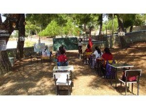 Antalya'da sınıflar açık havaya taşındı, ortaya Hababam tadında görüntüler çıktı
