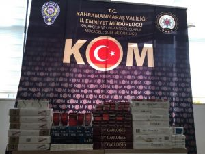 Kahramanmaraş'da Kaçak Sigara Operasyonu
