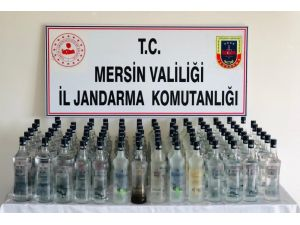 Mersin'de 103 Litre Sahte İçki Ele Geçirildi
