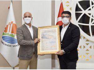 OSB Başkanı Ali Bahar, ANTİAD'ı konuk etti