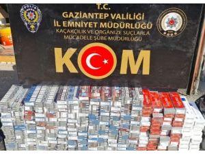 Aracın Kaputuna Gizlenmiş 2 Bin 700 Paket Kaçak Sigara Yakalandı