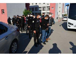 Şafak Vakti Gözaltına Alınan 15 Torbacı Adliyeye Sevk Edildi