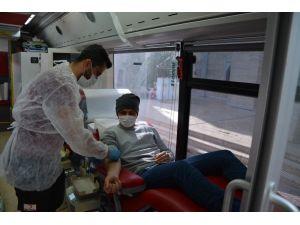 6 günde 450 ünite kan bağışı yapıldı