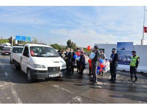Tarsus'ta Sürücülere Yönelik Korona Virüs Farkındalık Etkinliği Yapıldı