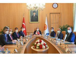 Tbmm Başkanı Mustafa Şentop, Kktc Başbakanı Ersan Saner İle Görüştü