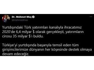 Yurt Dışındaki Türk Yatırımların Cirosu 35 Milyar Dolara Ulaştı