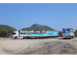 Kemer'de 9 günde 350 ton çöp geri dönüşüme gönderildi