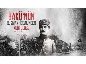 Cumhurbaşkanı Erdoğan, Bakü'nün işgalden kurtuluş yıl dönümünü kutladı