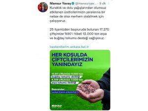 Ankara Büyükşehir Belediyesi'nden 17 Bin 270 Çiftçiye 12 Bin Ton Buğday Ve Arpa Tohumu