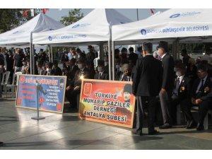 Antalya'da Gaziler Günü, düzenlenen tören ile anıldı