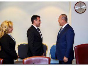 Bakan Çavuşoğlu Makedonya Başbakanı Zaev ile görüştü