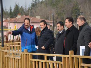 Başkan Bakıcı Yapımı Tamamlanan Parkta İncelemelerde Bulundu