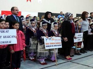 Tekden İlkokulu Halk Oyunları Yarışmasında 1'inci Oldu