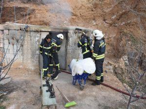 Aksaray'da Bağ Evinde Yanmış Erkek Cesedi Bulundu