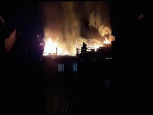 Malatya'da Çatı Yangını
