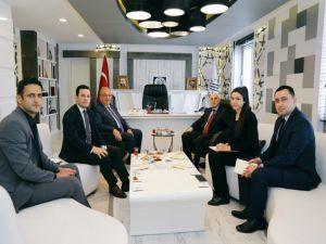 Müsteşar Yardımcısı Erdil Başkan Kutlu'yla Bir Araya Geldi