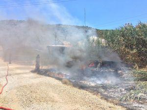 Demre'de korkutan yangın