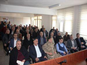 Arapgir'de Kamu Kurumlarıyla İstişare Toplantısı